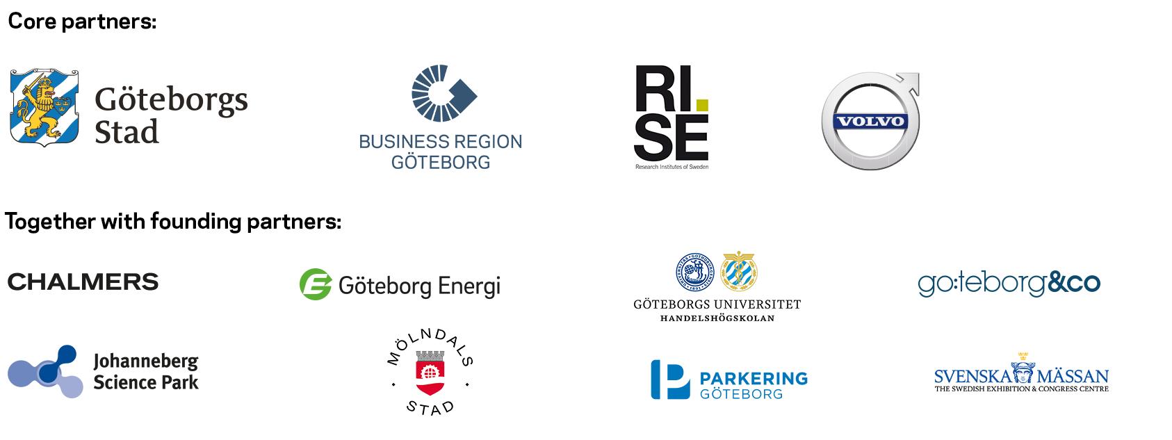 Partner logos, Gothenburg Green City Zone