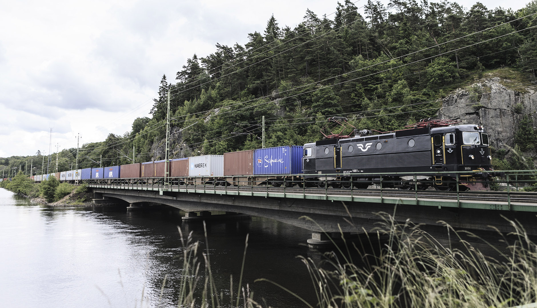 Around 70 freight trains operate to and from Gothenburg's port each day