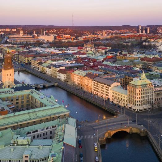Göteborg i kvällssol