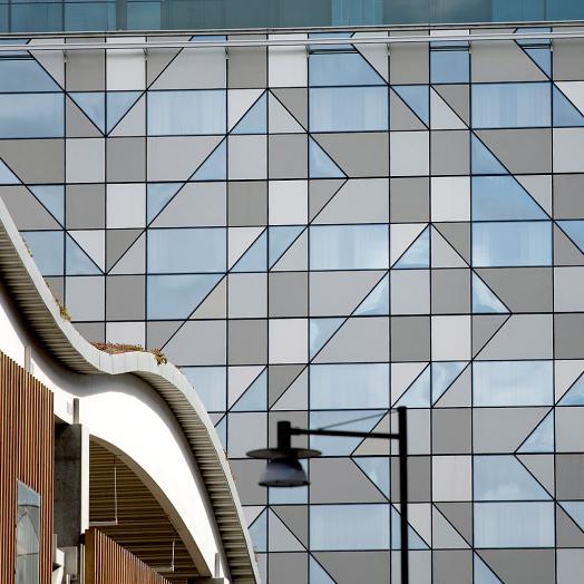 Facade of building on Lindholmen, Gothenburg