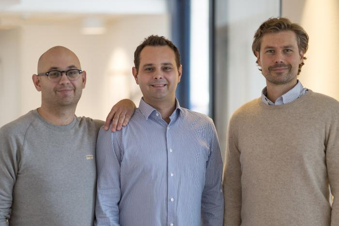 Three of the co-founders of Intelligent Implants: Erik Zellmer, John Zellmer and Martin Larsson at the Gothenburg office.