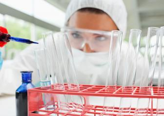 Person working in a laboratory