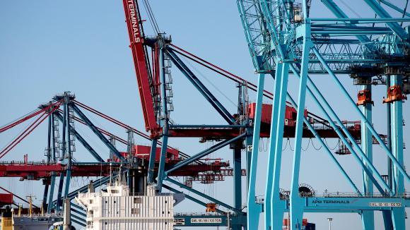 Cranes at the Port of Gothenburg